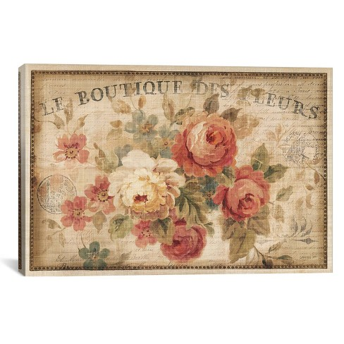 "26"" x 40"" Parisian Flowers III by Danhui Nai Unframed Wall Canvas Print - iCanvas - image 1 of 4"