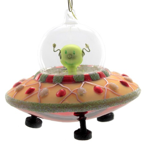 """Holiday Ornament 4.0"""" Ufo Ornament Spaceship  -  Tree Ornaments - image 1 of 3"""