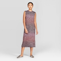 Women's Sleeveless Crewneck Ombre Knit Midi Dress - Prologue™ Purple