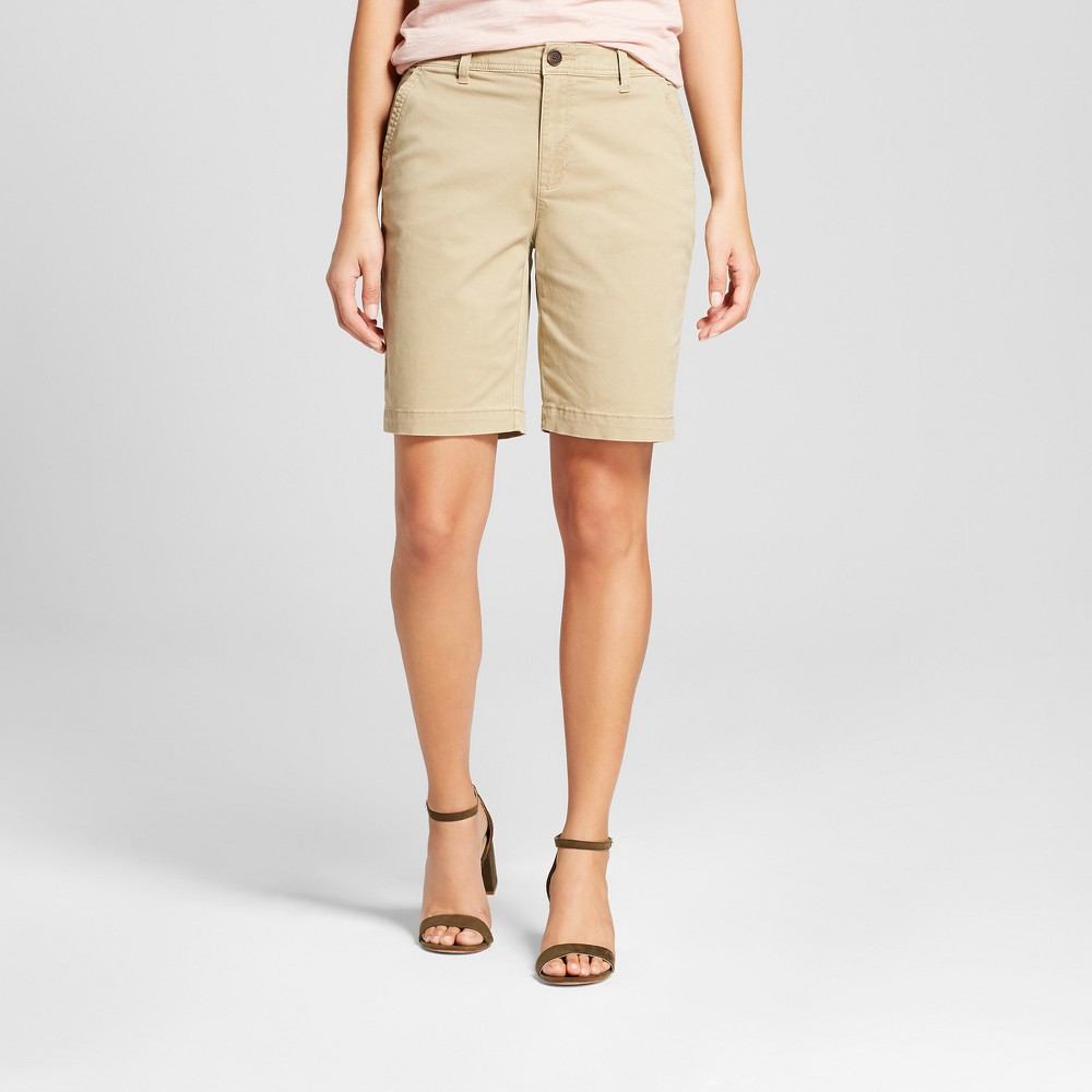 Women's 9 Chino Shorts - A New Day Tan 0