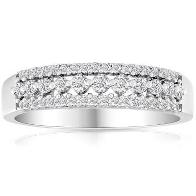 Pompeii3 1/3 carat Diamond Wedding Ring 10 KT White Gold