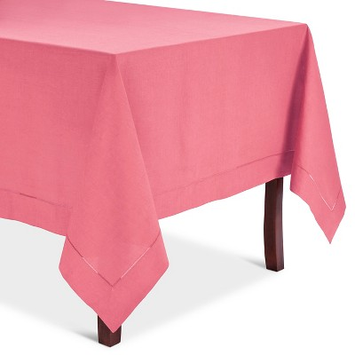 Hemstitched Tablecloth Coral (72  Round)