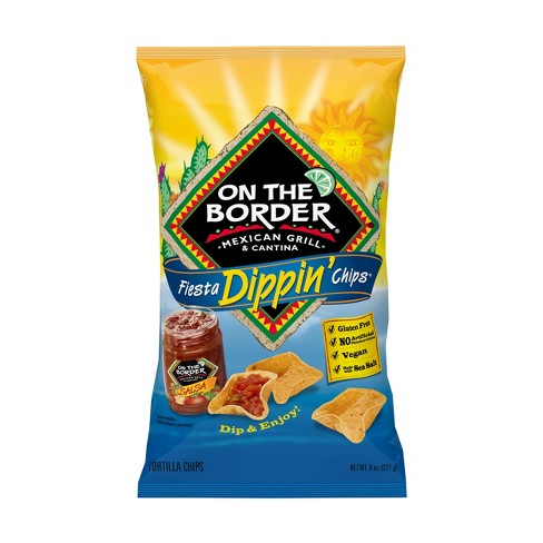 On The Border Fiesta Dippin' Tortilla Chips - 8oz - image 1 of 1