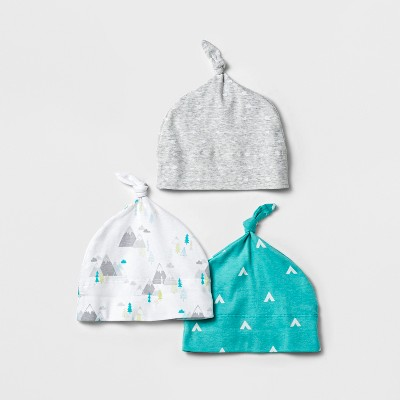 Baby Boys' 3pk Hat Set Cloud Island™ - Blue