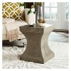 Curby Square Concrete Accent Table - Safavieh® - image 3 of 4