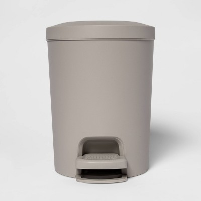 1.6gal Step-On Wastebasket Light Gray - Room Essentials™