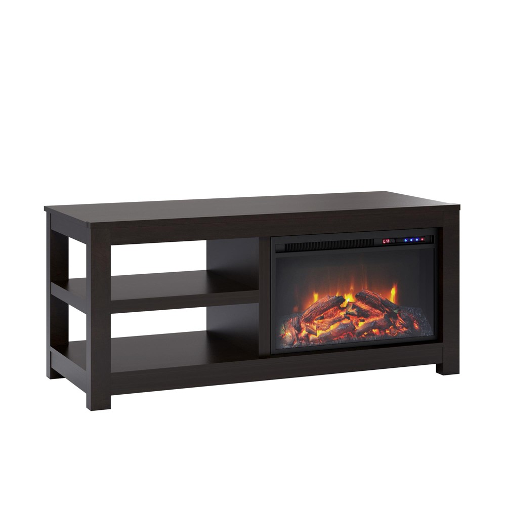 55 George Electric Fireplace TV Stand Espresso Brown - Room & Joy