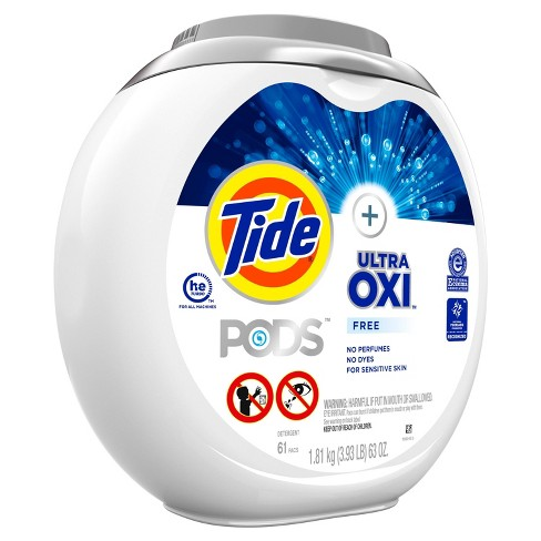 Tide Pods Laundry Detergent Pacs With OxiFree - 61ct - image 1 of 4