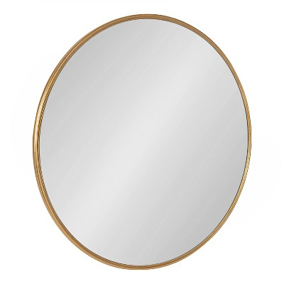 """30"""" Caskill Round Wall Mirror Gold - Kate & Laurel All Things Decor"""