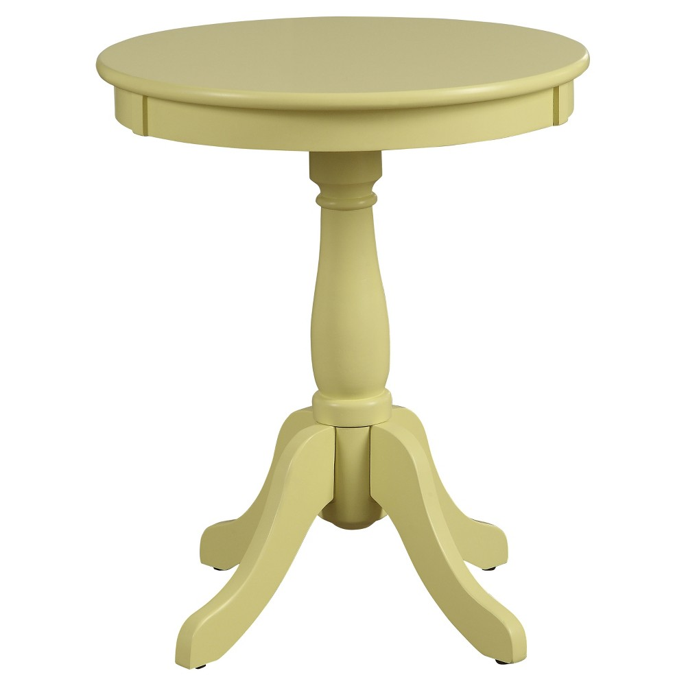End Table Yellow, Light Yellow