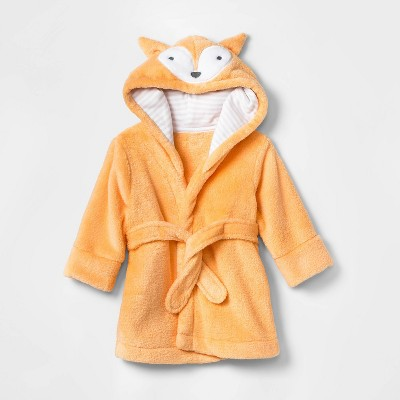 Baby Boys' Fox Bath Robe - Cloud Island™ Orange One Size
