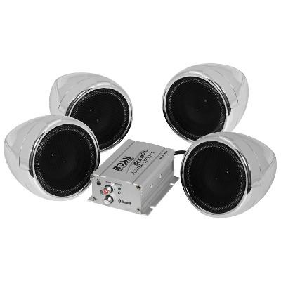 BOSS Audio MC470B 1,000 Watt Maximum Power Waterproof All Terrain 12 Volt Vehicle Bluetooth 3 Inch Full Range Speakers and Compact Amplifier
