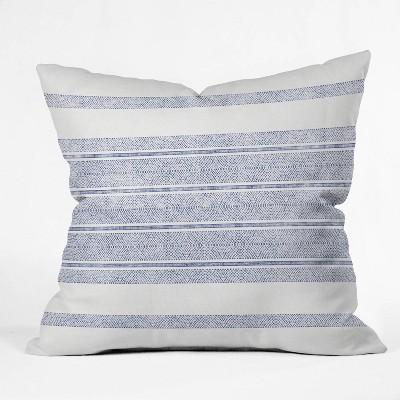 "20""x20"" Holli Zollinger Capri Stripes Square Throw Pillow Blue - Deny Designs"