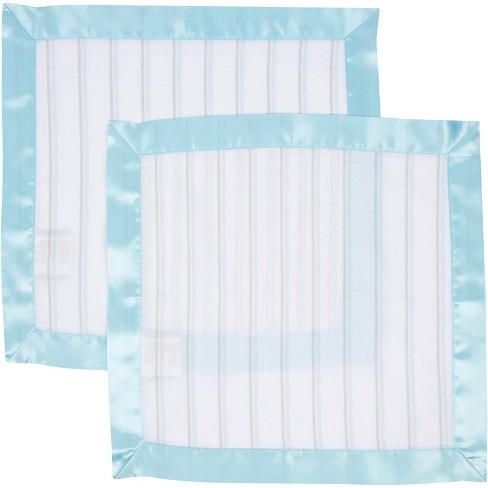 MiracleWare Muslin Security Blanket Blue Stripes - 2 Pack - image 1 of 1