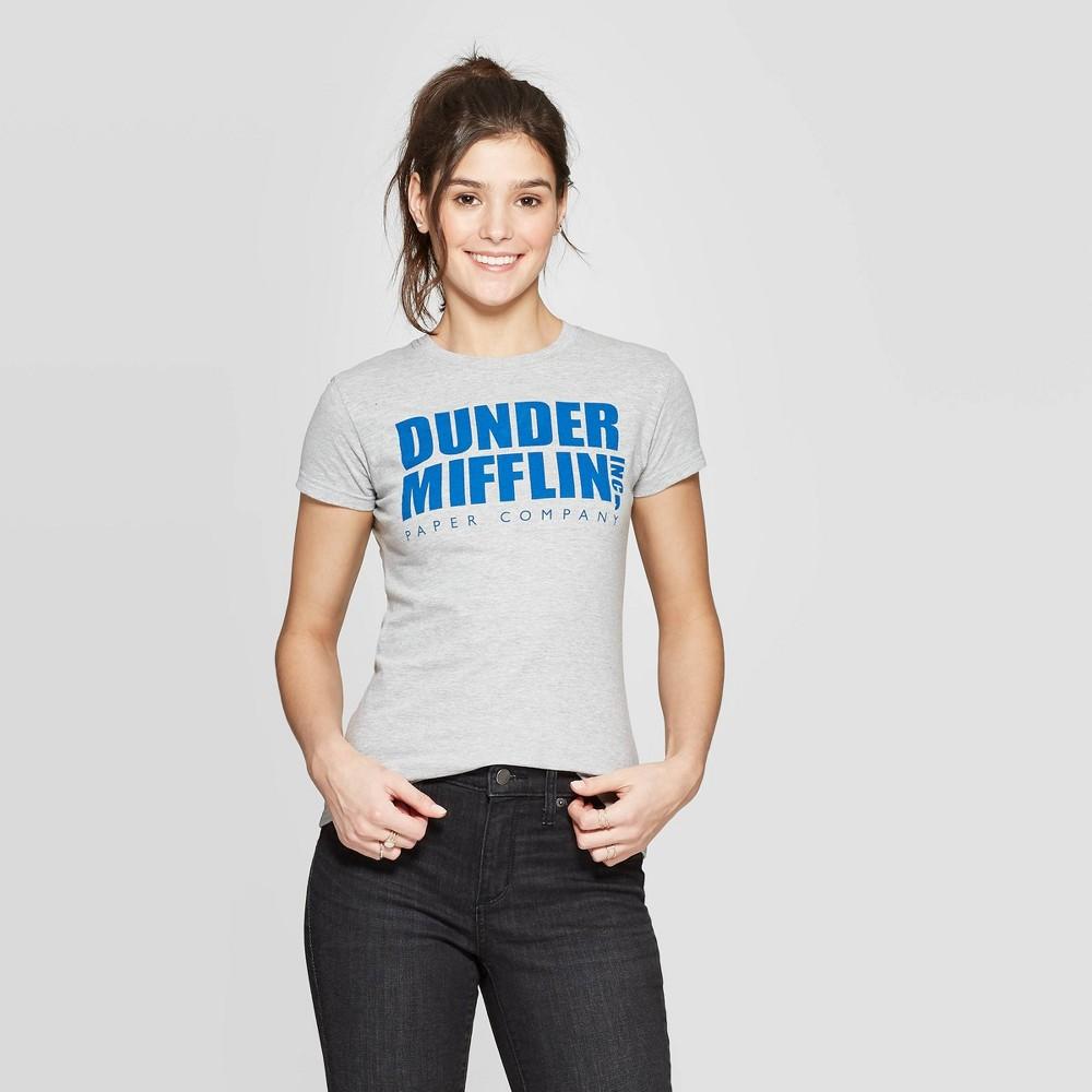 Women's The Office Dunder Mifflin Short Sleeve Graphic T-Shirt (Juniors') - Heather Gray L