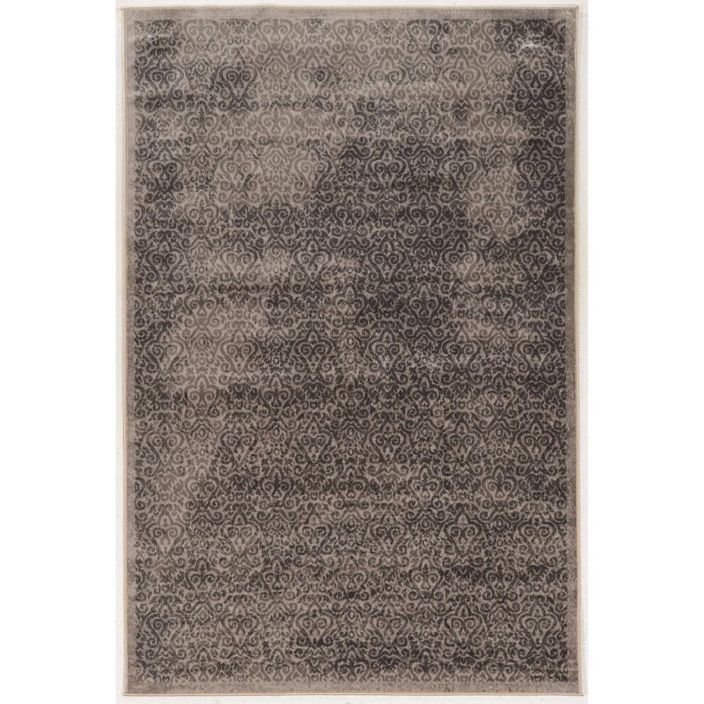 8 39 X10 39 Vintage Collection Illusion Rug Charcoal Gray Linon