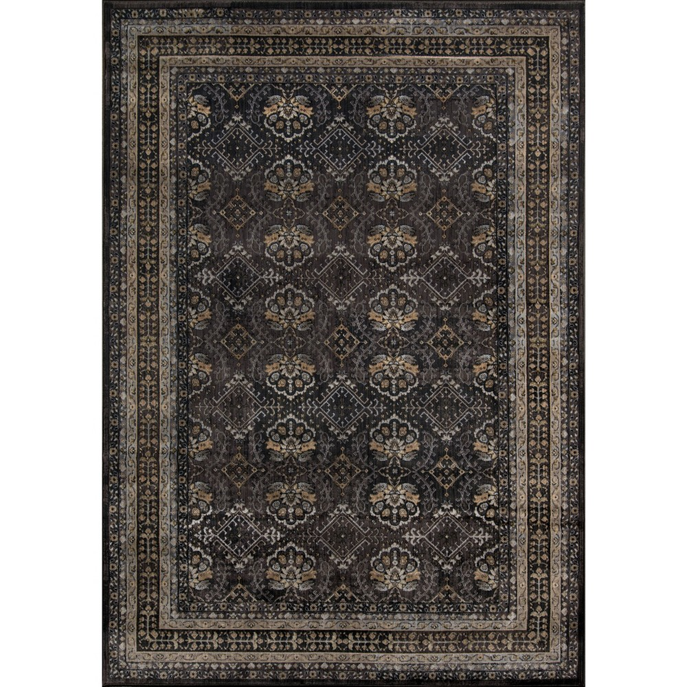5'X8' Shapes Area Rug Charcoal, Gray