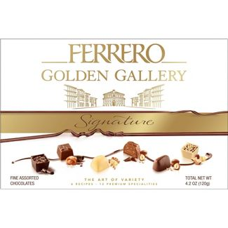Ferrero Rocher Golden Gallery Signature Fine Assorted Chocolates - 12ct