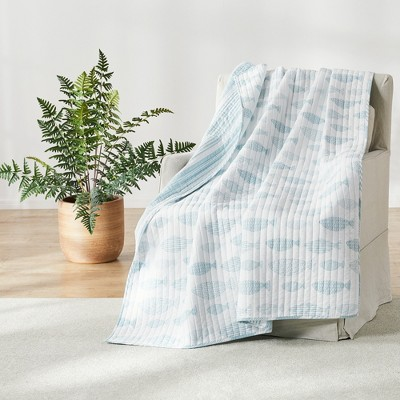 Aqua Breeze  Quilted Throw - Levtex Home