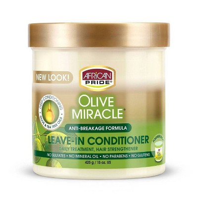 African Pride Olive Miracle Anti-Breakage Leave -In Conditioner CRèME - 15oz