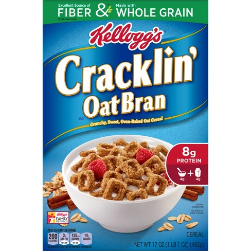 Cracklin' Oat Bran Breakfast Cereal - 17oz - Kellogg's - image 1 of 4