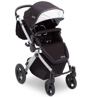 J is for Jeep Brand Sport Utility All-Terrain Stroller - Black/Silver