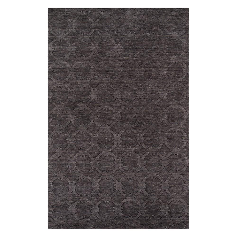 2'X3' Geometric Loomed Accent Rug Charcoal (Grey) - Momeni