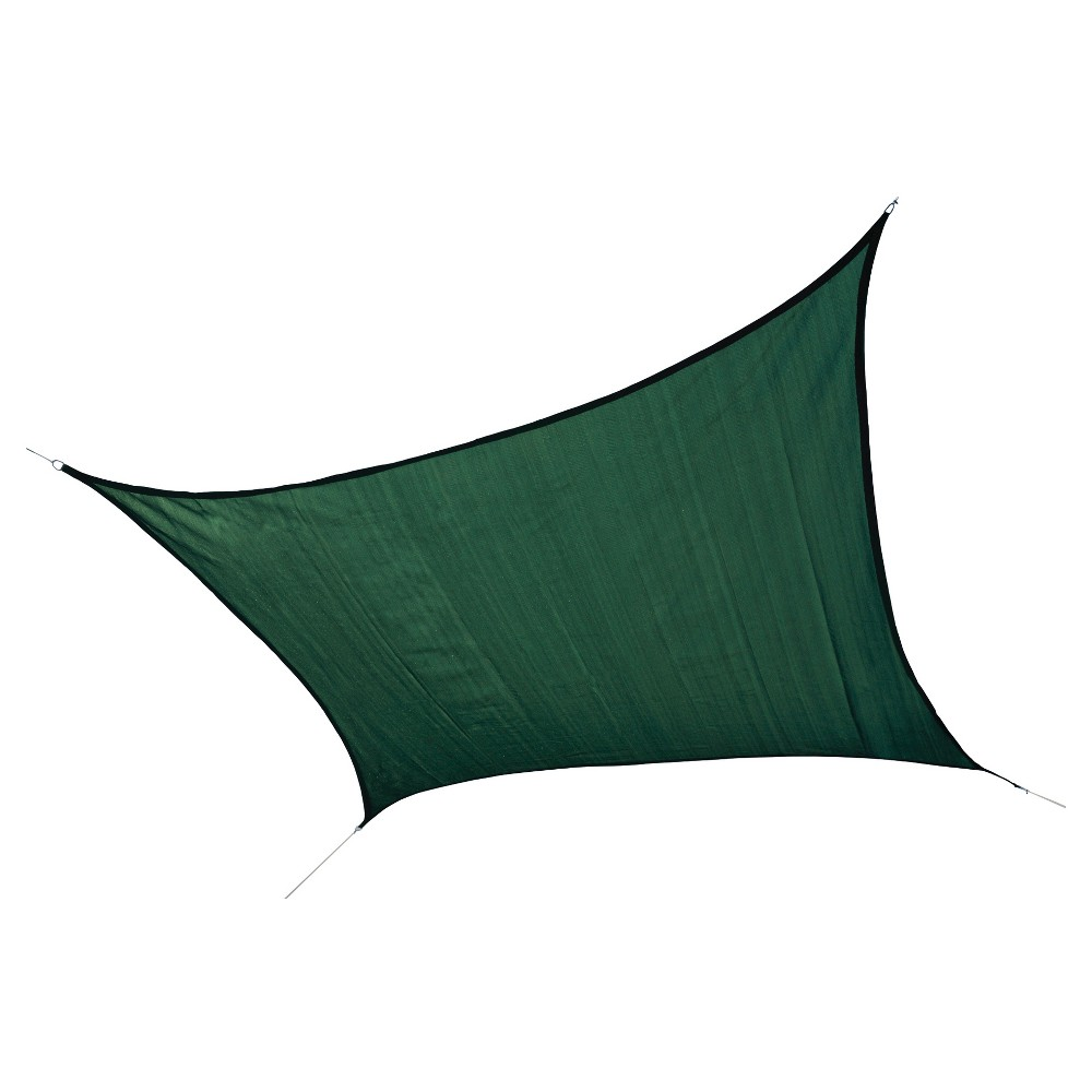 Shelter Logic Square Sun Shade Sail Lime Green 12' 230 gsm