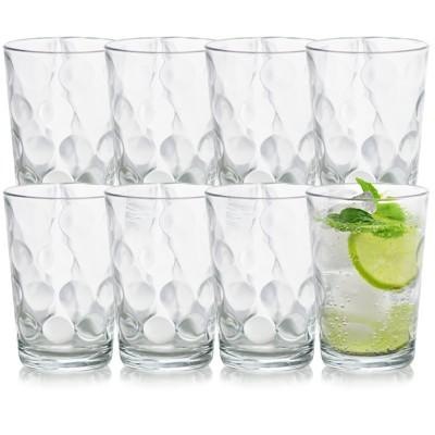 Pasabahce Space 8 Piece 7oz. Glass Juice Tumbler Cup Set