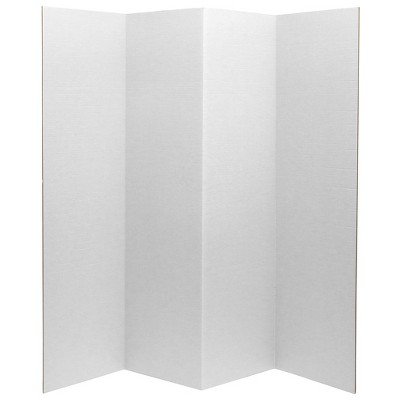"6"" Cardboard Room Divider 4 Panel - Oriental Furniture"