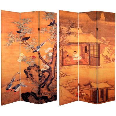 6' Tall Double Sided Room Divider - Oriental Furniture