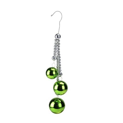 "Raz Imports 8.5"" Christmas Balls On Silver Chain Christmas Ornament - Green - image 1 of 1"