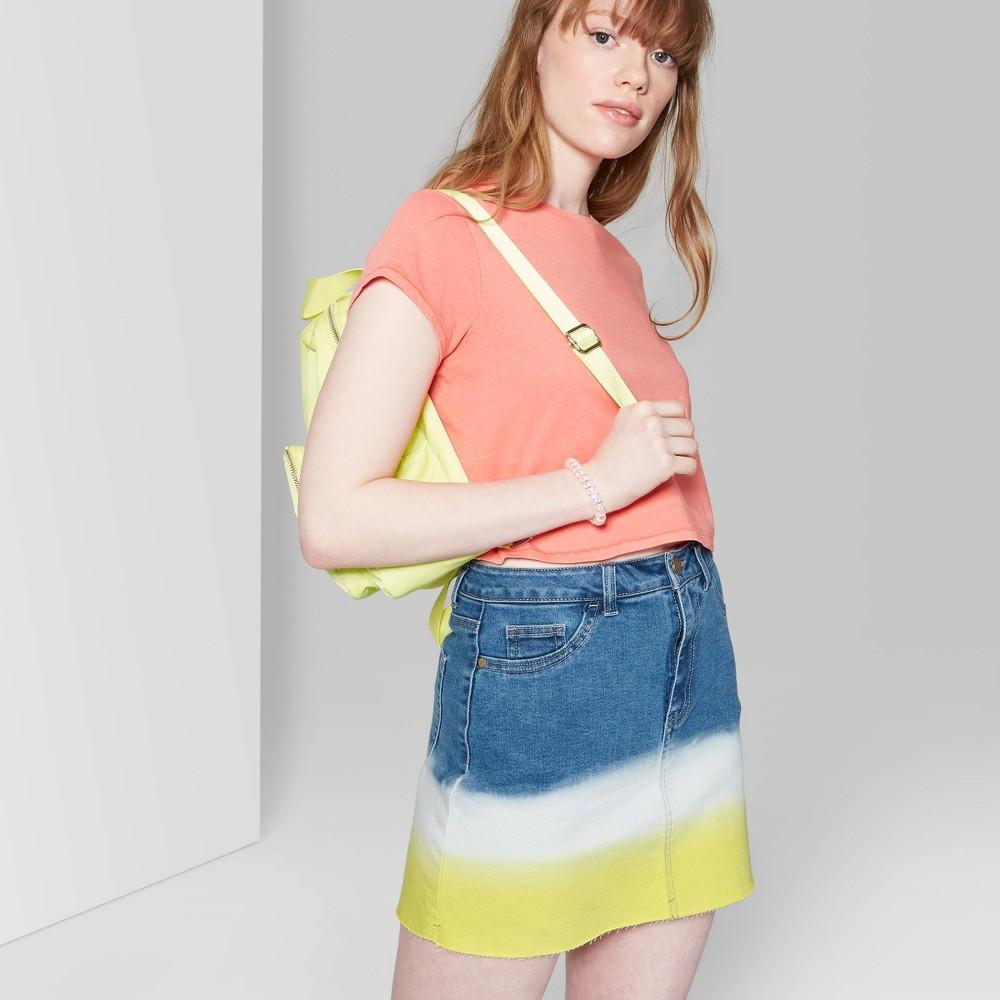Women's High-Rise Dip Dye Mini Skirt - Wild Fable Yellow 4