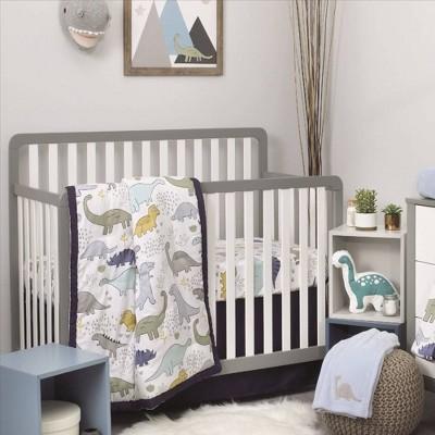 NoJo Little Dinosaurs Nursery Crib Bedding Set - 4pc