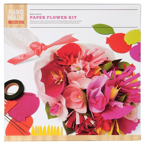 Hand made modern bloom service paper flower kit target about this item mightylinksfo