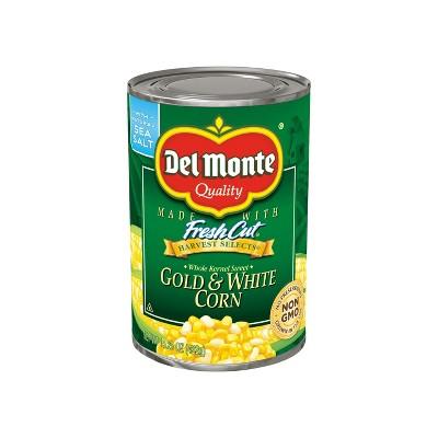 Del Monte Fresh Cut Whole Kernel Sweet Gold & White Corn 15.25 oz