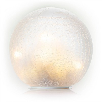 "Alpine 7"" Textured Glass Gazing Globe with LED Lights"