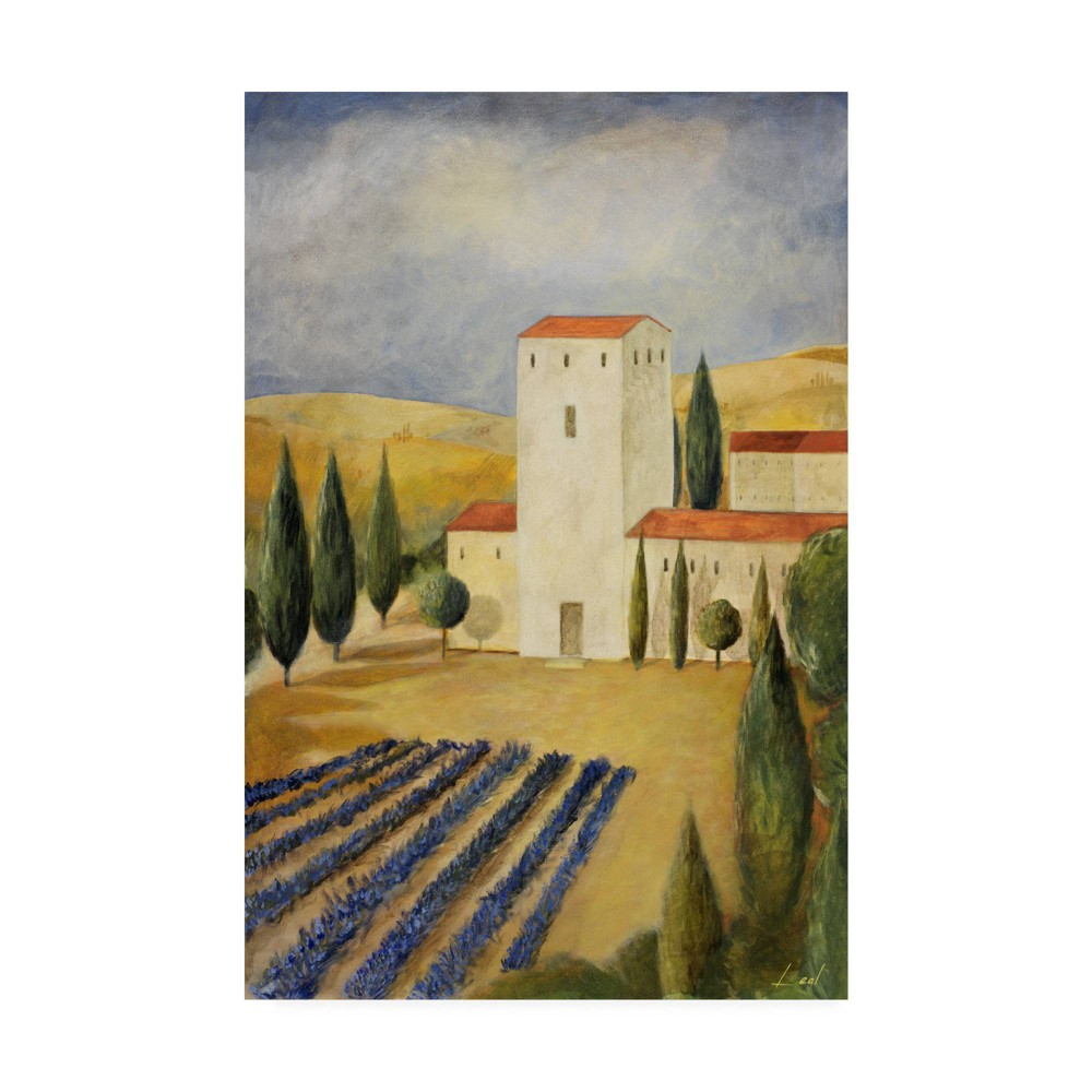 Image of 12 X 19 Pablo Esteban 'Tuscan Farm 1' Canvas Art - Trademark Fine Art