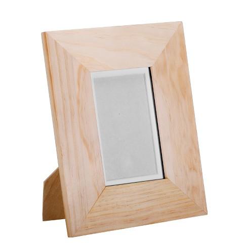 4 X 6 Wood Frame Natural Spritz Target
