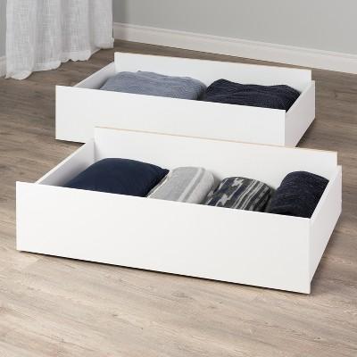 Set of 2 Select Storage Drawers On Wheels - Prepac