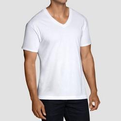 d97f9549a73a Fruit Of The Loom Men's 6pk V-Neck T-Shirt - White : Target