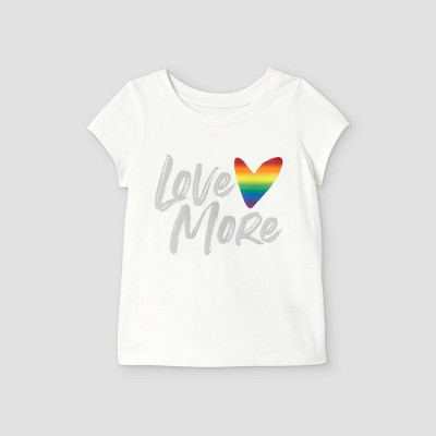 Toddler Girls' 'Love More' Graphic T-Shirt - Cat & Jack™ Cream