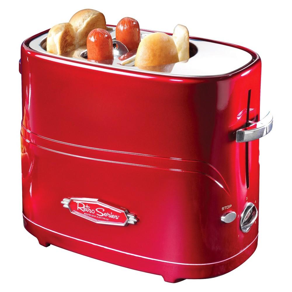 Nostalgia Hot Dog Toaster, Red