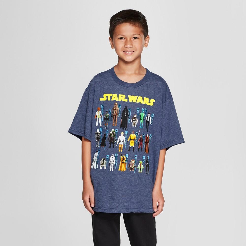 Boys' Star Wars Character Toys Short Sleeve Graphic T-Shirt - Navy XL, Blue