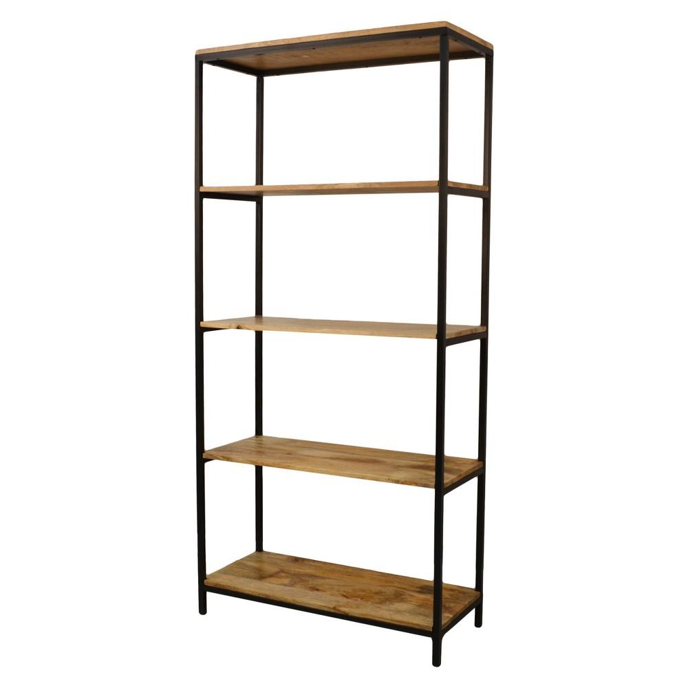 72 Flynn Tall Bookcase Natural Black Carolina Chair And Table
