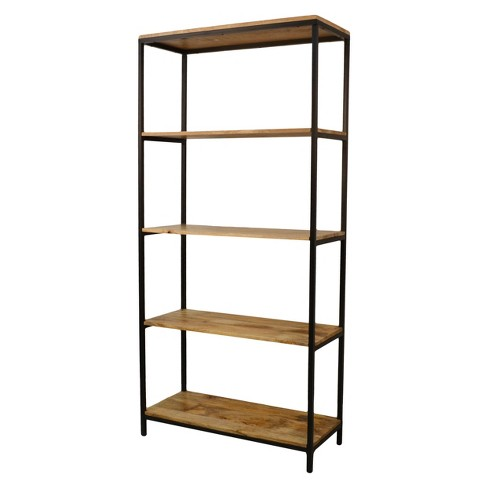 "Flynn Tall Bookcase 72"" Natural/Black - Carolina Chair and Table® - image 1 of 4"