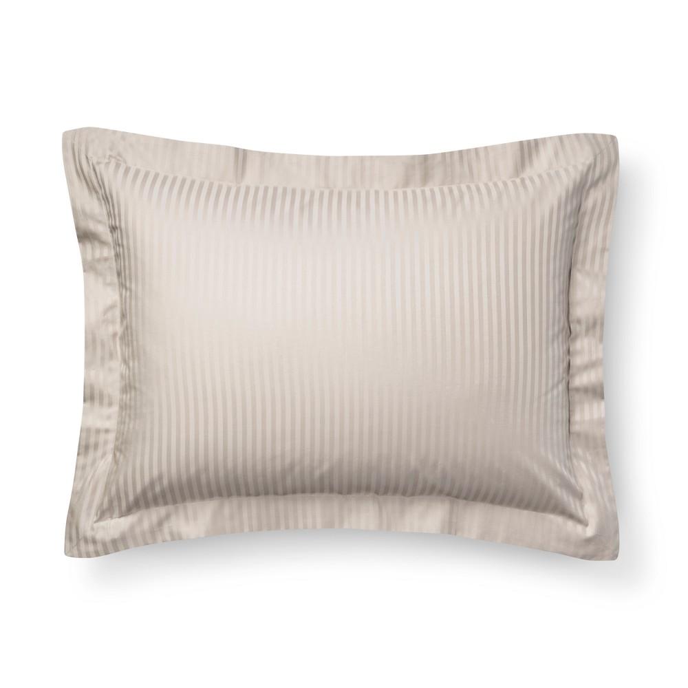 Pebble Damask Stripe Pillow Sham (King) - Fieldcrest