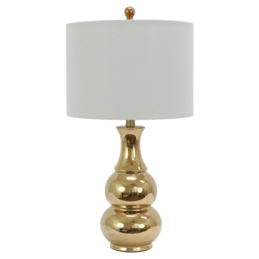 Image of Harper Ceramic Table Lamp Gold (Includes Energy Efficient Light Bulb) - Decor Therapy