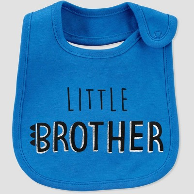 Baby Boys' Little Brother Bib Set - Just One You® made by carter's Blue