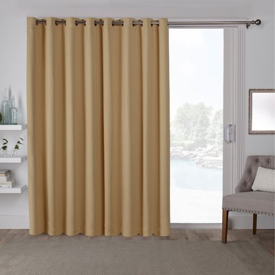 Exclusive Home Sateen Blackout Solid Grommet Top Wide Patio Curtain Panel